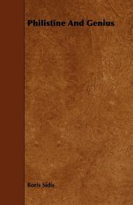 Philistine and Genius Book