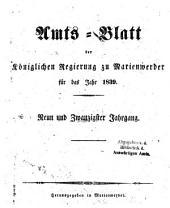 Amtsblatt für den Regierungsbezirk Marienwerder: Band 29