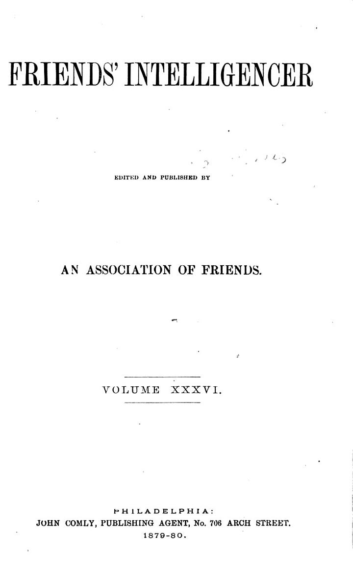 Friends' Intelligencer