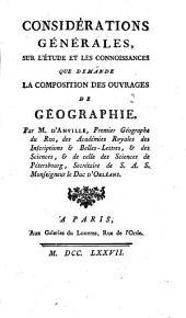 D'Anville, Géographie, Pièces