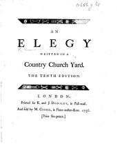 An Elegy Written in a Country Church Yard. The Ninth Edition. By Thomas Gray