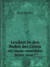 Lexikon zu den Reden des Cicero