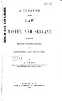 A Treatise on the Law of Master and Servant PDF