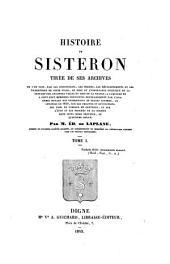 Histoire de Sisteron Tiree de ses Archives