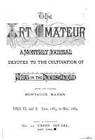 The Art Amateur PDF