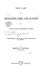 The Law of Defamation PDF