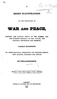 A brief Illustration of the Principles of War and Peace     By Philanthropos PDF