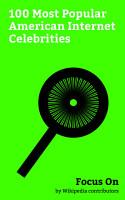 Focus On  100 Most Popular American Internet Celebrities PDF