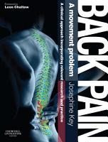 Back Pain   A Movement Problem E Book PDF