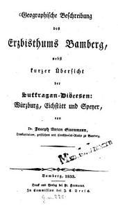 Geographische Beschreibung des Erzbistums Bamberg
