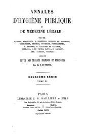 Annales d'hygiène publique et de médecine légale: Volume 40