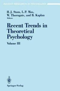 Recent Trends in Theoretical Psychology PDF
