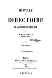 Histoire du directoire de la republique francaise: Volume4