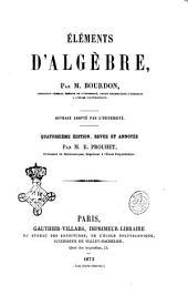 ÿléments d'algèbre par M. Bourdon