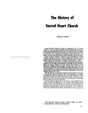 Baraga County History Book  1972 73