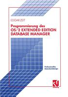 Programmierung des OS 2 Extended Edition Database Manager PDF
