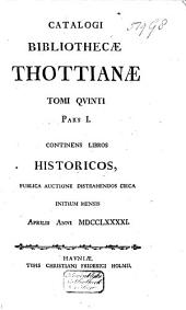 Catalogi bibliothecae Thottianae: Volume 8