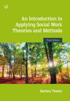 An Introduction to Applying Social Work Theories and Methods 3e PDF