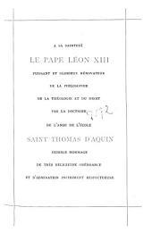 Le docteur angélique, S. Thomas d'Aquin
