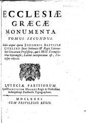 Ecclesiæ græcæ monumenta: Volume 2