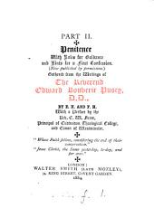 Prayers gathered from the writings of ... Edward Bouverie Pusey, by E.H. and F.H. Penitence