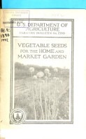 Vegetable Seeds for the Home and Market Garden PDF