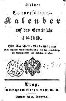Kleiner Conversations Kalender auf das Gemeinjahr 1839 PDF
