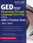 Kaplan GED   Test Reasoning Through Language Arts Prep 2016 Book