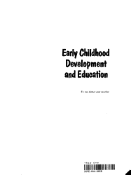 Early Childhood Development And Education Book PDF