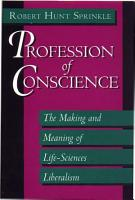 Profession of Conscience PDF