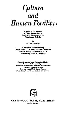 Culture and Human Fertility