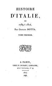 Histoire d'Italie: de 1789 à 1814