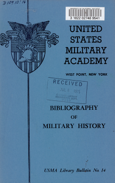 Bibliography of Military History PDF