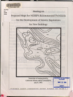 Hearing on Proposed Maps for NEHRP s Recommended Provisions for New Building Design PDF