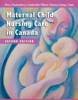 Maternal Child Nursing Care in Canada   E Book PDF