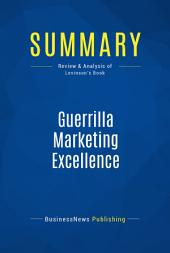 Summary: Guerrilla Marketing Excellence: Review and Analysis of Levinson's Book