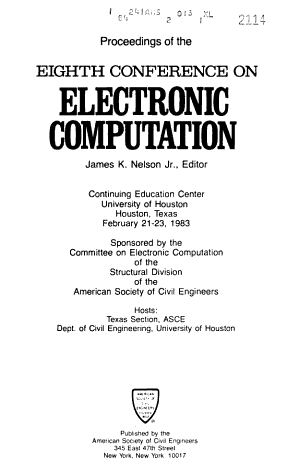Proceedings of the     Conference on Electronic Computation