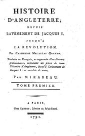 Histoire d'Angleterre: depuis l'avènement de Jacques I., jusqu'à la révolution, Volume1