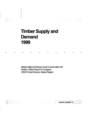 Timber Supply and Demand 1999  R 10 MB 526  July 2004