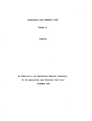 Appalachian Land Ownership Study  Virginia