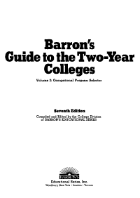 Barron s Guide to the Two Year Colleges PDF