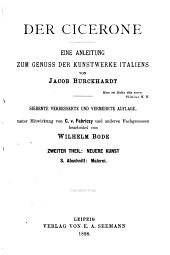 Der Cicerone: eine Anleitung zum Genuss der Kunstwerke Italiens, Band 2,Teil 1