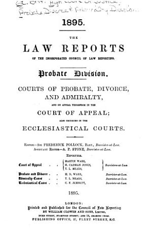 The Law Reports of the Incorporated Council of Law Reporting PDF