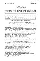 Journal of the Society for Psychical Research: Volumes 5-6