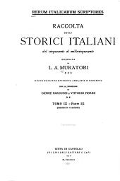 Rerum italicarum scriptores: Volume 9,Parte 9