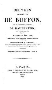Oeuvres complètes de Buffon: avec les descriptions anatomiques de Daubenton, son collaborateur, Volume14,Partie2