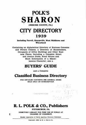 Polk s Sharon  Mercer County  Pa   City Directory     PDF