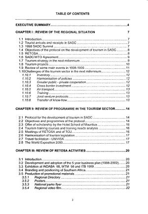 Southern African Development Community  2000 Consultative Conference Publications    Tourism PDF
