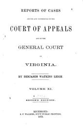 Reports of Cases in the Supreme Court of Appeals of Virginia: Volume 38