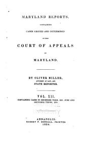 Reports of Cases Argued and Adjudged in the Court of Appeals of Maryland: Volume 12